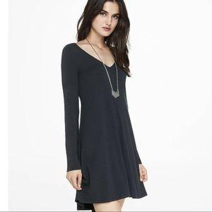 Express Long-sleeve Trapeze T-Shirt Dress